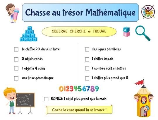 Chasse au trésor mathématique