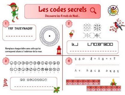 codes secrets de Noël