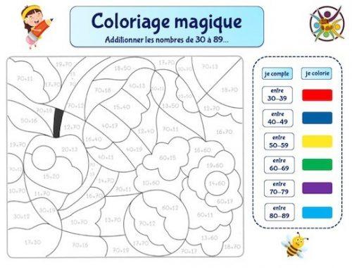 coloriage magique thème fruits