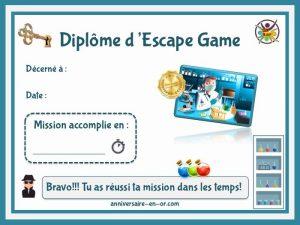 Diplôme escape game agent secret