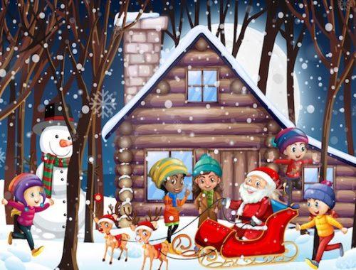 Grand jeu de Noël pour enfants de maternelle