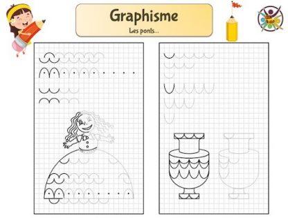 Fiche de graphisme pour enfants de maternelle: les ponts