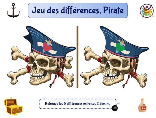 Jeu des différences, Pirate