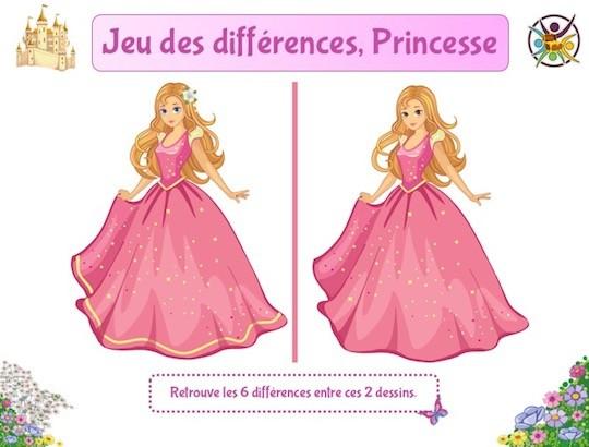 Le jeu des différences princesse