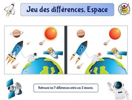 Jeu des différences Espace