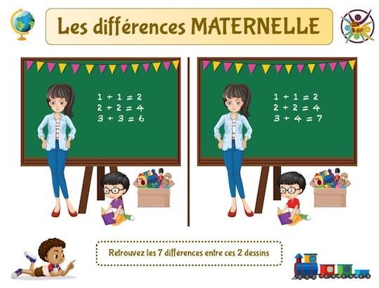 Jeu des différences Maternelle