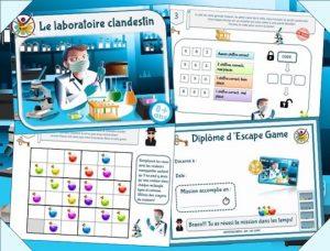 Kit de jeu d'escape game dans un laboratoire clandestin