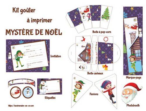 Kit goûter de Noël: décoration à imprimer