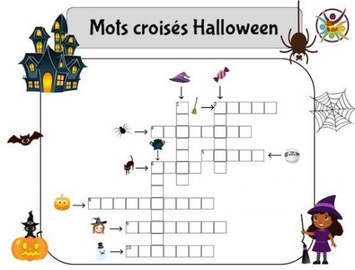 Grille de mots croisés pour Halloween