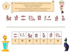 alphabet codé avec des hiéroglyphes