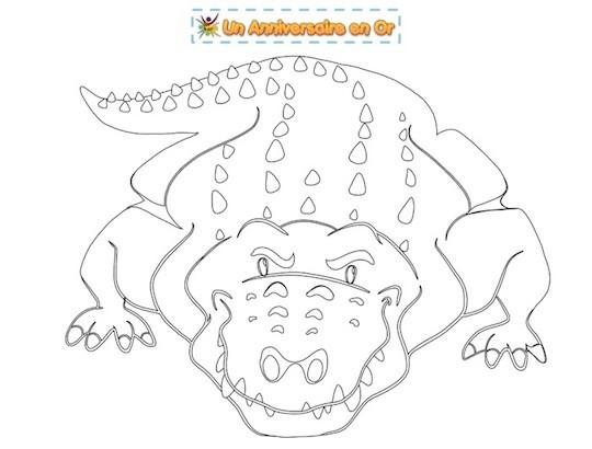 Coloriage crocodile