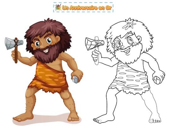coloriage préhistoire