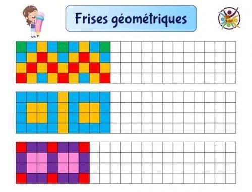 frises géométriques à colorier