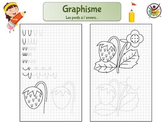 Fiche de graphisme enfant maternelle: les ponts à l'envers