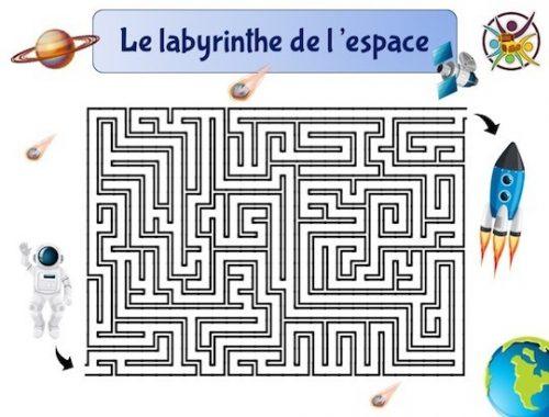 Le labyrinthe de l'espace à imprimer gratuitement