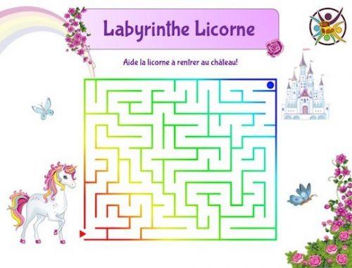 Labyrinthe licorne: jeu gratuit enfant