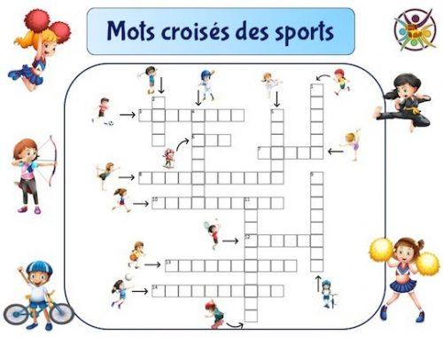 mots croisés des sports