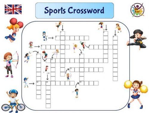 jeu de mots-croisés pour apprendre le nom des sports en anglais