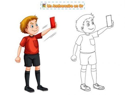 Coloriage d'arbitre de foot