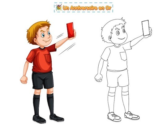 Coloriage d'arbitre de foot