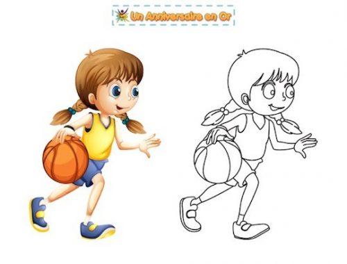 Coloriage basketball