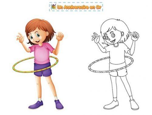 Coloriage hula hoop