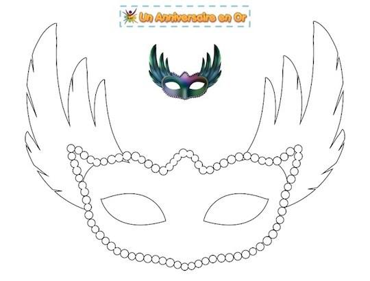 Coloriage masque de carnaval