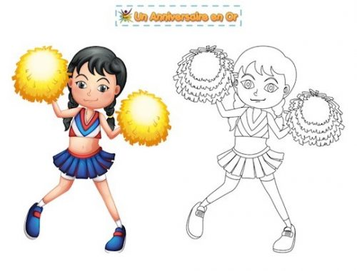 coloriage pom pom girl