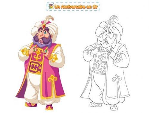 Coloriage Sultan