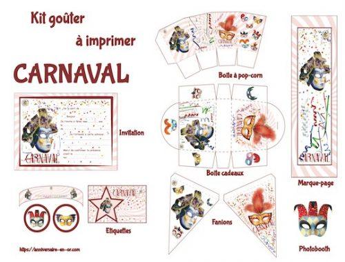 Décoration à imprimer carnaval