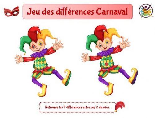 Jeu des différences carnaval