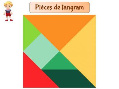 Pièces tangram couleur