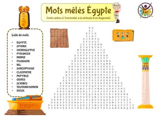 mots mêlés Égypte