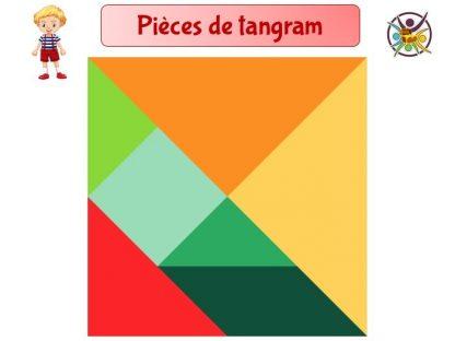 Pièce de tangram à imprimer gratuitement