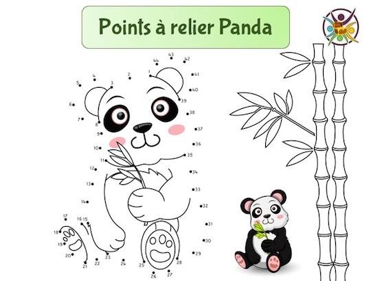 Points à relier panda