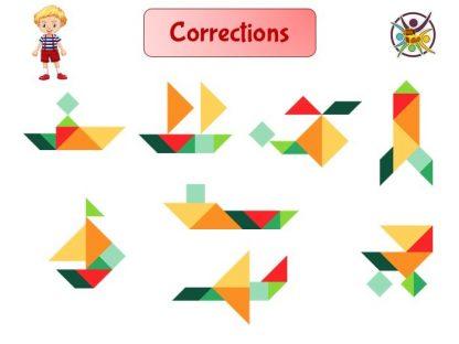 tangram et réponses