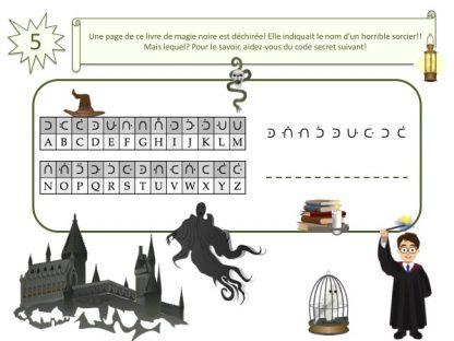 énigme sorcier pour jeu anniversaire Harry Potter
