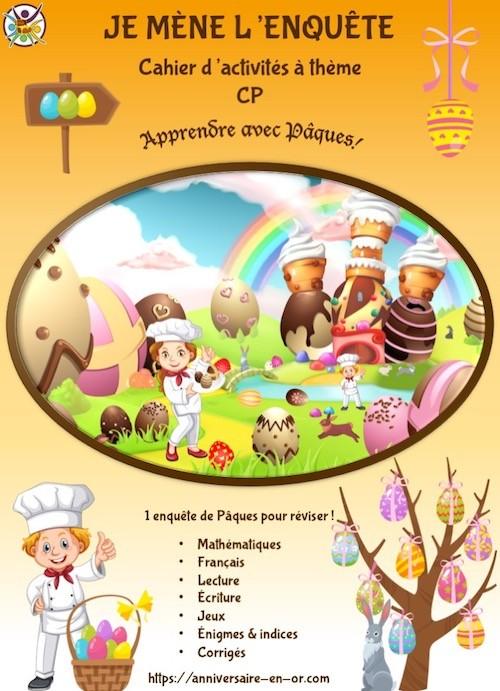 Cahier d'activités enfant sur le thème de Pâques