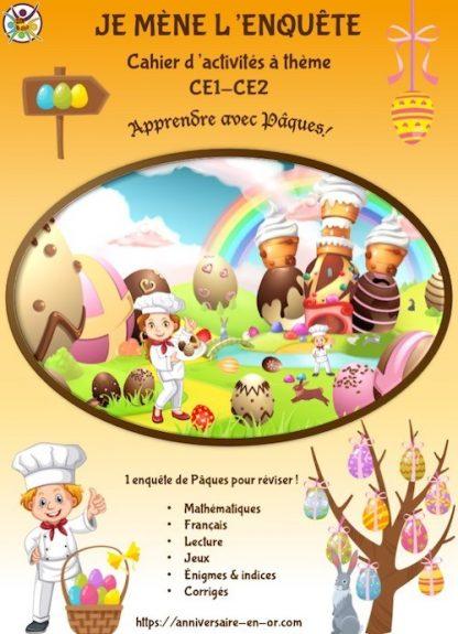 Cahier de jeux et d'apprentissage thème Pâques