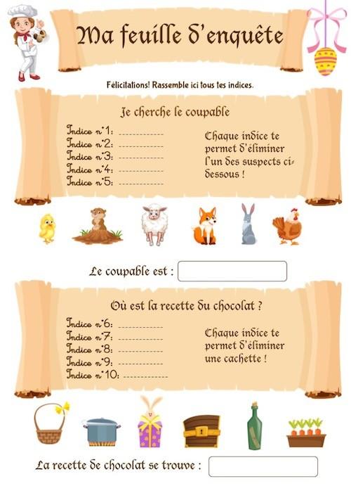 Cahier de jeux éducatif de Pâques pour enfant de maternelle
