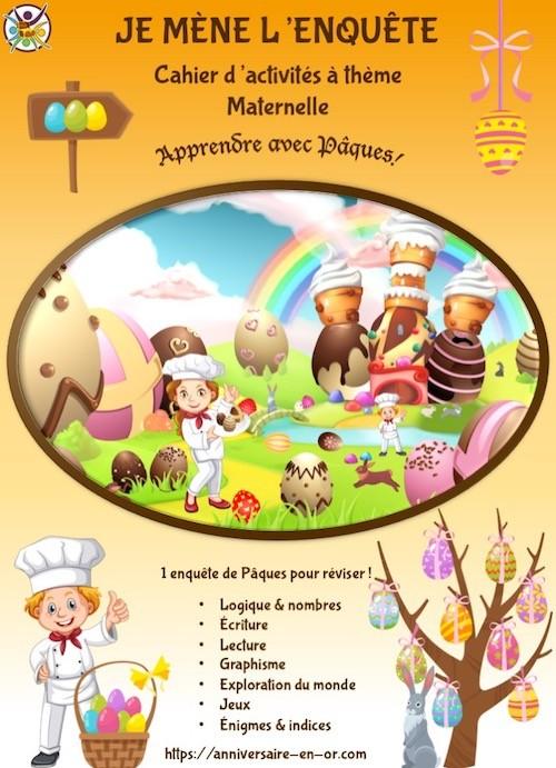 Cahier enfant maternelle éducatif de Pâques