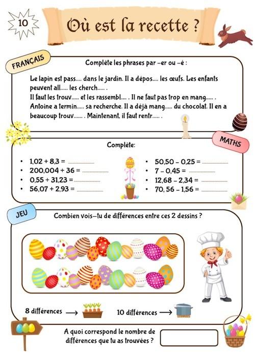 Cahier de révision scolaire ludique à télécharger CM1-CM2