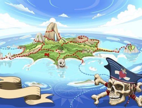 Kit pour animation de chasse au trésor PIRATE