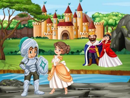 jeu de chasse au trésor chevalier pour enfants