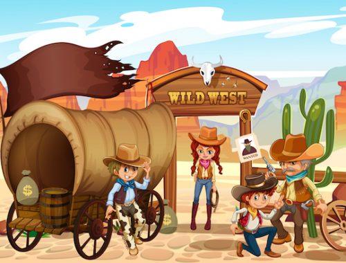 Chasse au trésor enfant Cowboy à imprimer
