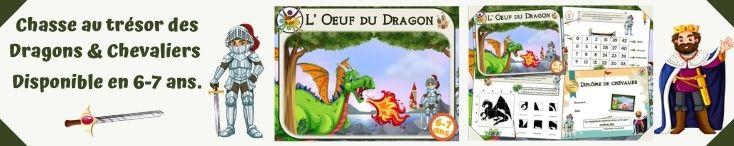 Chasse au trésor des dragons et des chevaliers