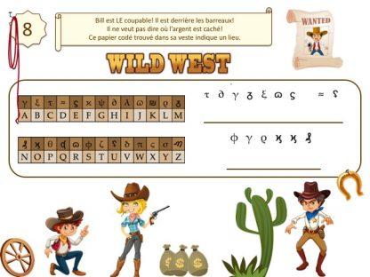 Code secret pour jeu de chasse au trésor au Far West