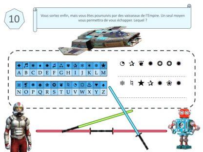 code secret escape game Star Wars pour enfant