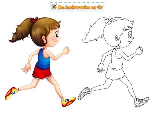 Coloriage course à pied