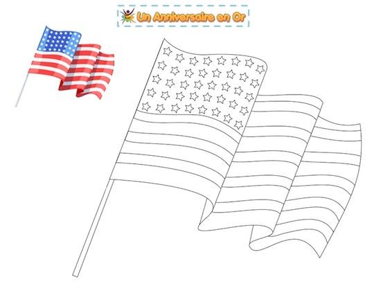 coloriage du drapeau des États-Unis